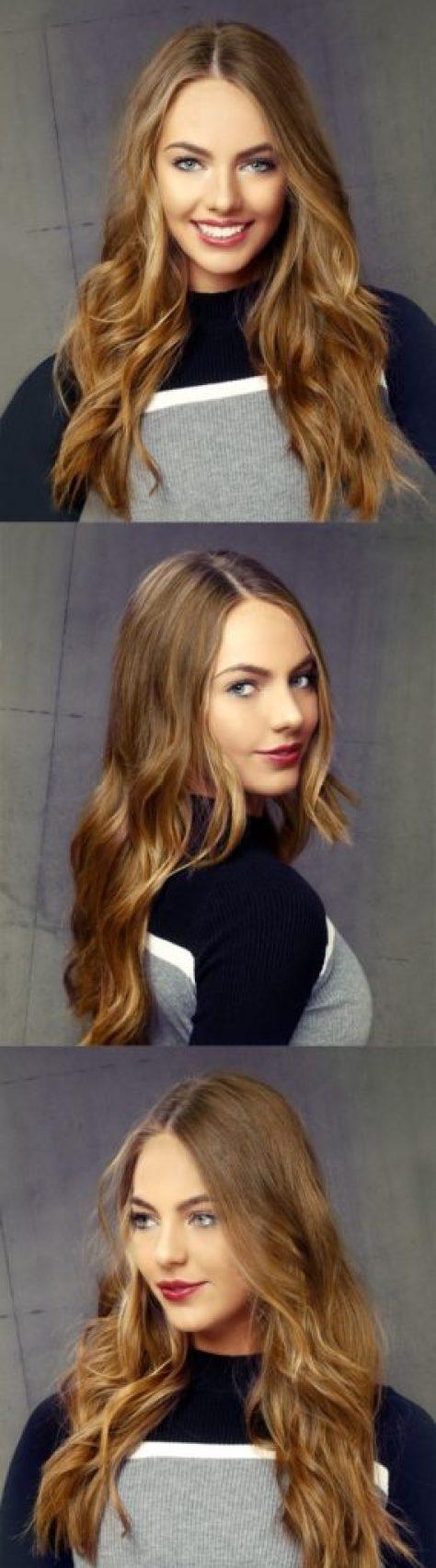 Light Brunette Long Wavy Hairstyle