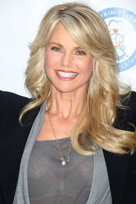Golden Blonde Long Wavy Hair with Side Bangs