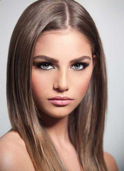 Straight Long Light Brown Hair