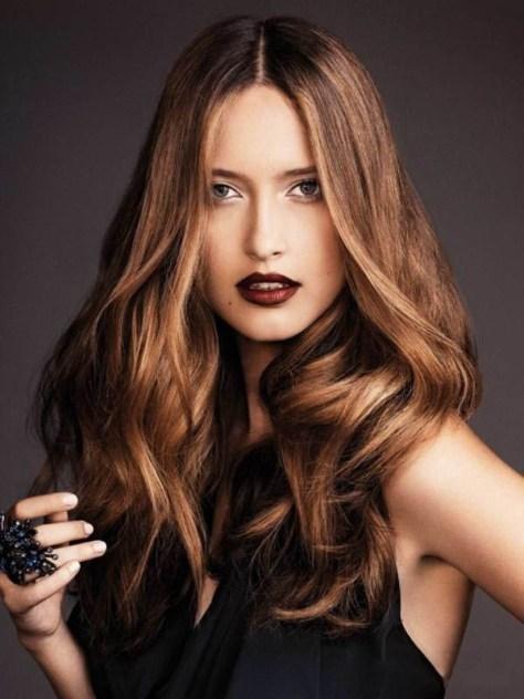 Dark Brown to Golden Ombre For Medium Hair