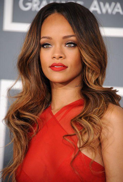 Soft Reddish Caramel Ombre Medium Hair