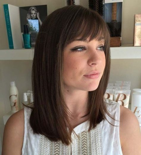 Sophisticated and Lovely Bang Hairstyle For Thin Hair