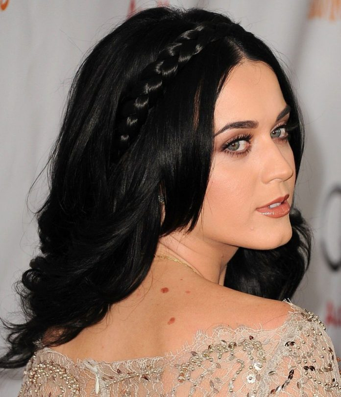 Layered Black Hair with Braid