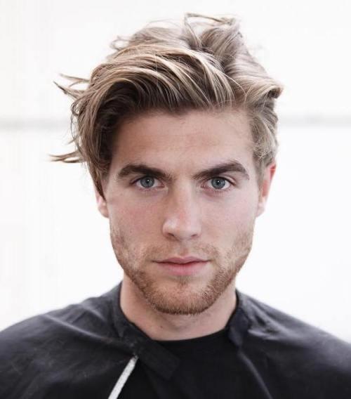 Medium Blonde Hairstyle for Men