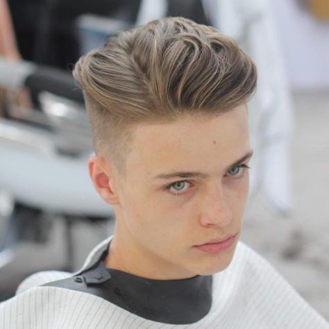 Faded Side Part with Undercut