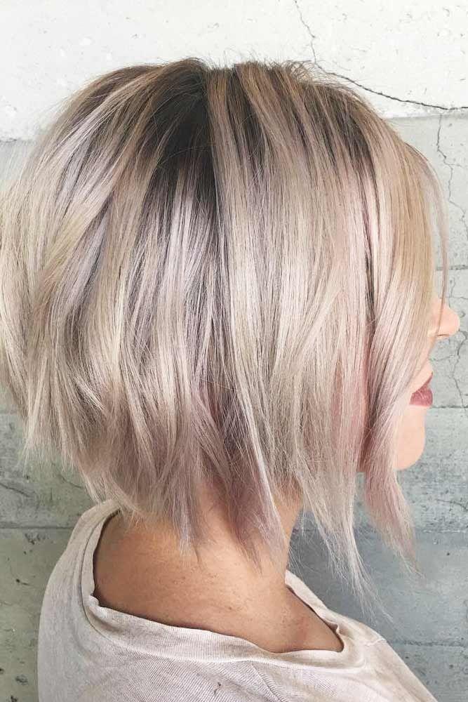Ash Blonde Short Straight Hair