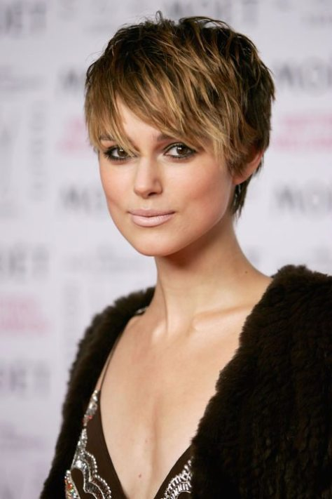Brunette Short Shaggy Haircut