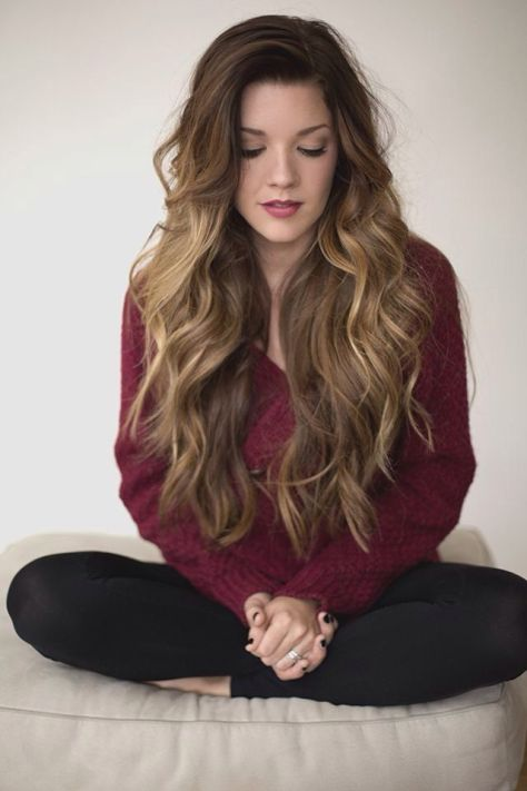 Side Swept Long Hairstyle with Waves