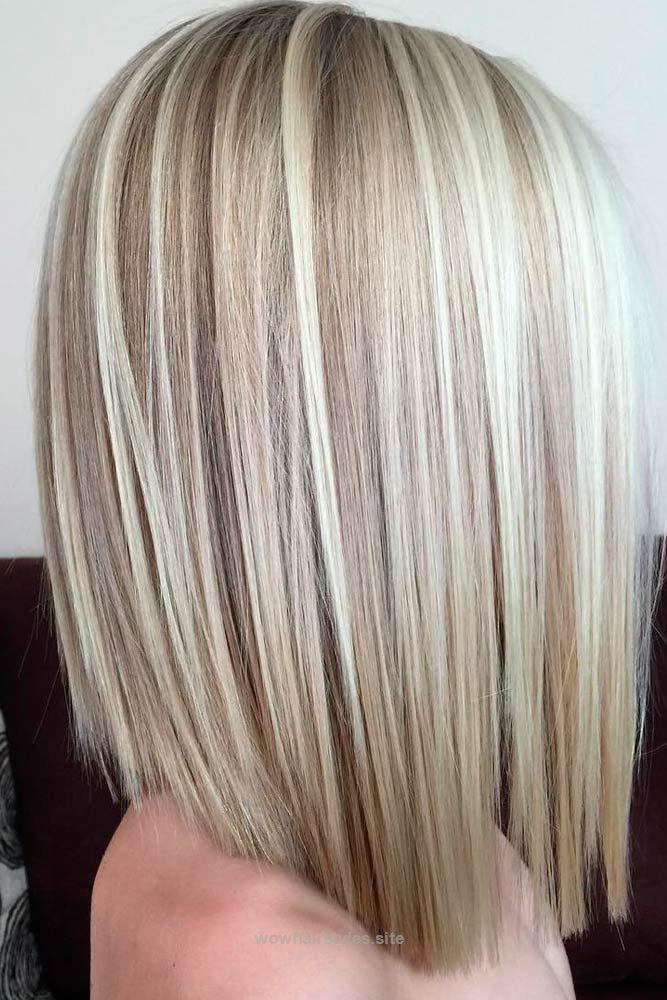 Straight Blonde Medium Bob