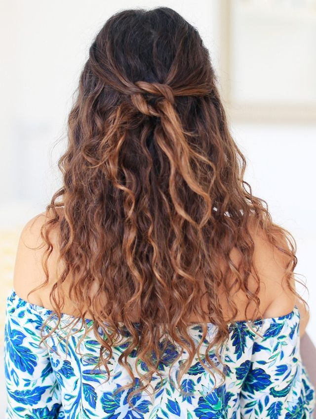Curly Hair with Knot