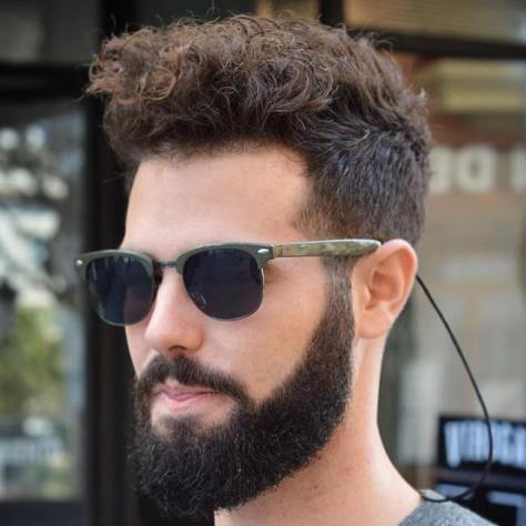 Curly Top Undercut for Thick Hair