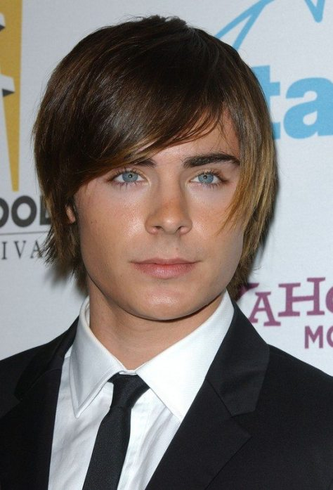Hairstyle with Side Swept Bangs for Men