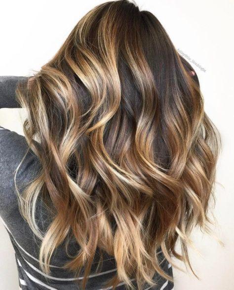 Caramel Brown Thick Wavy Hair