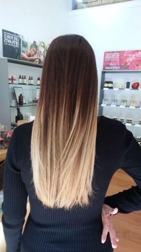 Dark to Light Ombre Straight Hair