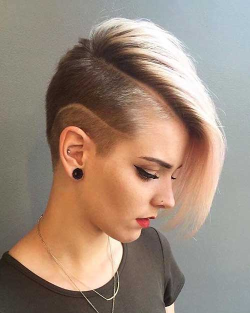 Funky Haircut with Side Long Bangs