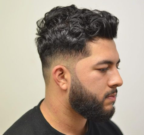 Mid Taper Haircut with Curls