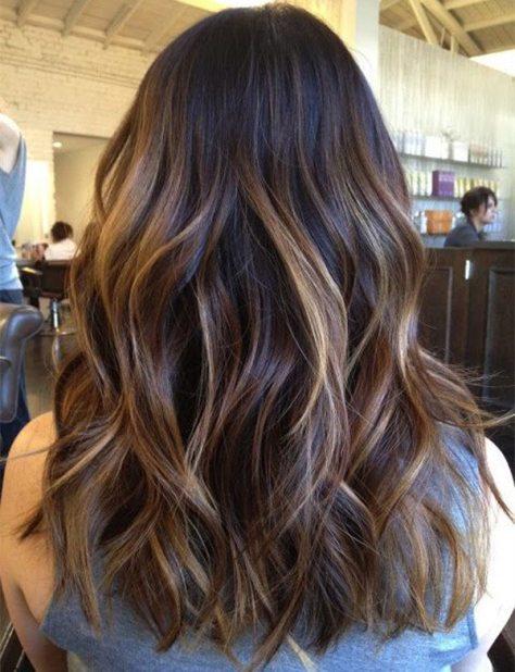 Dark Brown Balayage Hairstyle