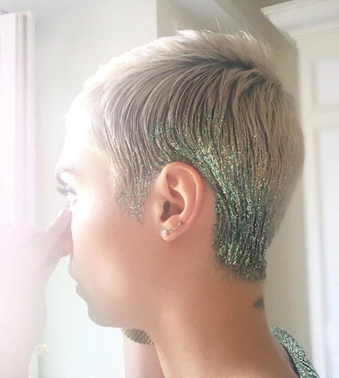 Glittered Pixie Cut