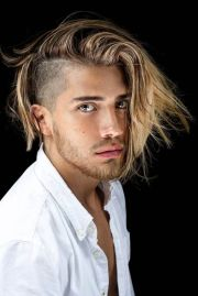 side part hairstyle men