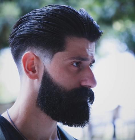 Textured Slick Back Haircut