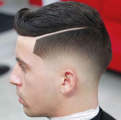 Skin Fade Haircut with Line