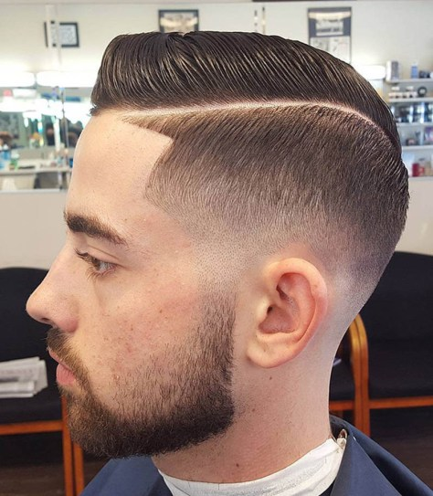 Hard Part Fade with Line