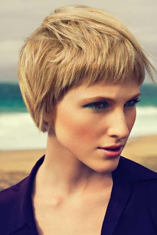 Messy Blonde Pixie Haircut