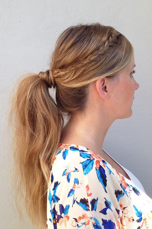 Ponytail with Accent Braids