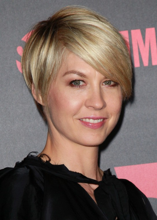 Cute Short Hair with Side Swept Bangs