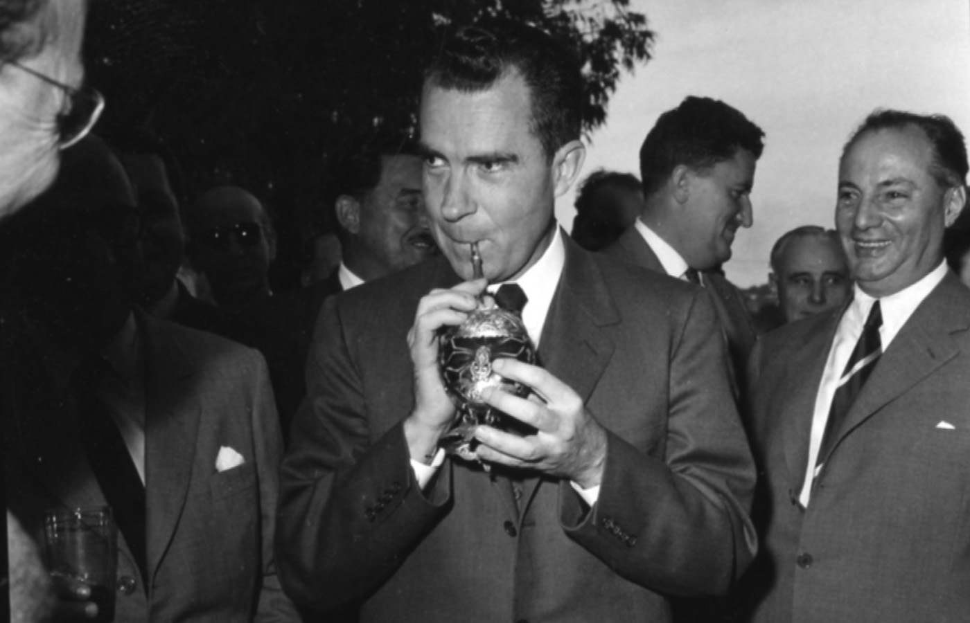 Richard Nixon drinking