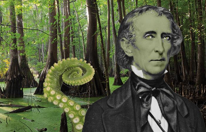 John Tyler, president and swamp monster