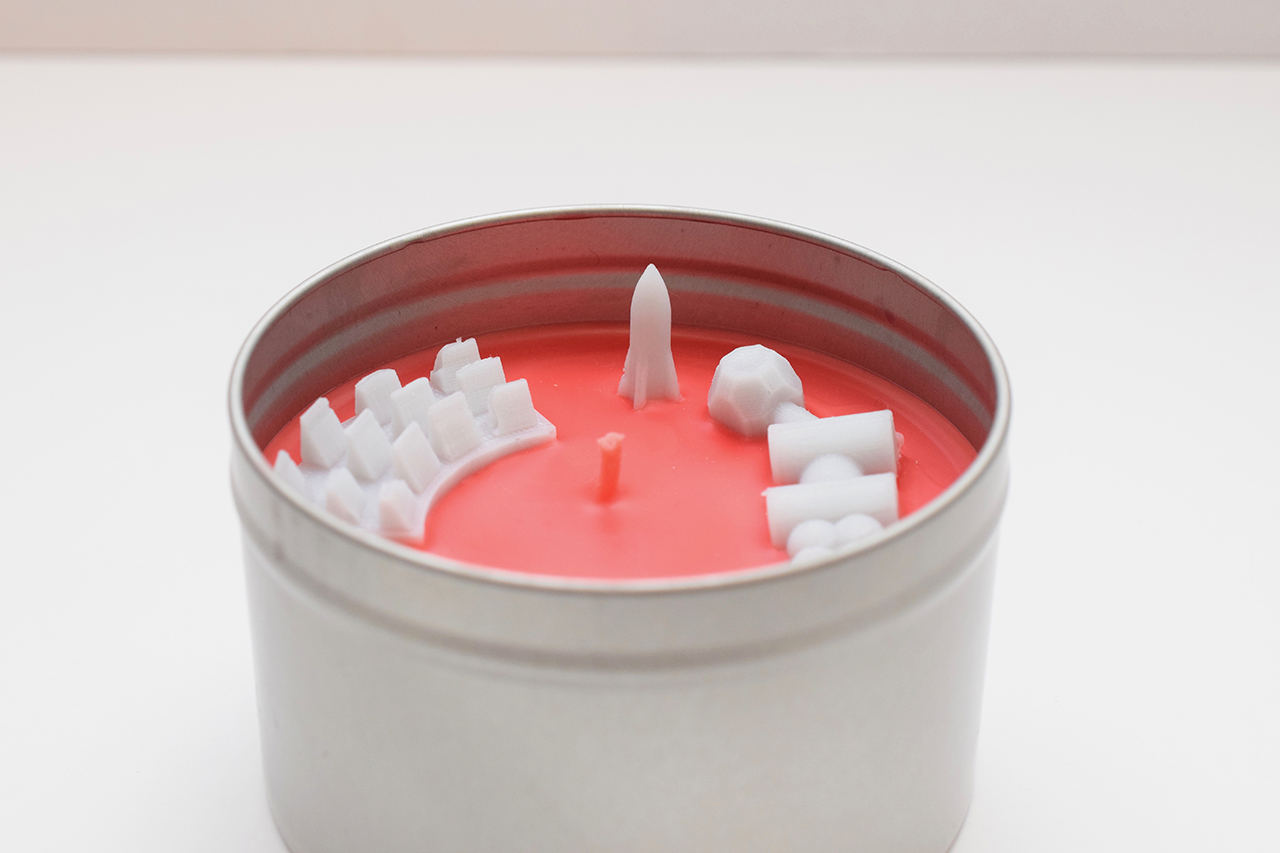Martian Colony Candle