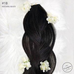 Virgin-Tape-In-Hair-Extensions-Natural-Black-1B-Braid-Flowers.fw