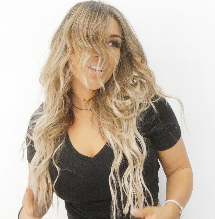 Tape In Hair Extensions Las Vegas Client