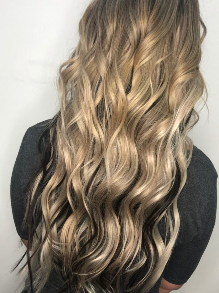 Russian Remy I Tip Hair Extensions Model
