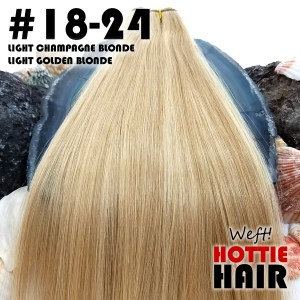 Weft-Hair-Extensions-Light-Champagne-Blonde-Light-Golden-Blonde-Swatch-18-24.fw
