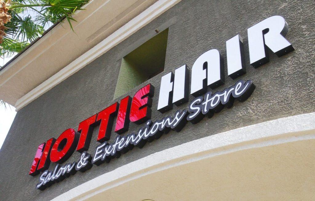 Hottie Hair Salon & Extensions Hair Store Las Vegas Sign