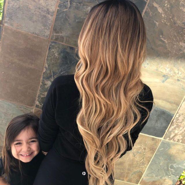 Ombre Hair Dark Brown Strawberry Blonde