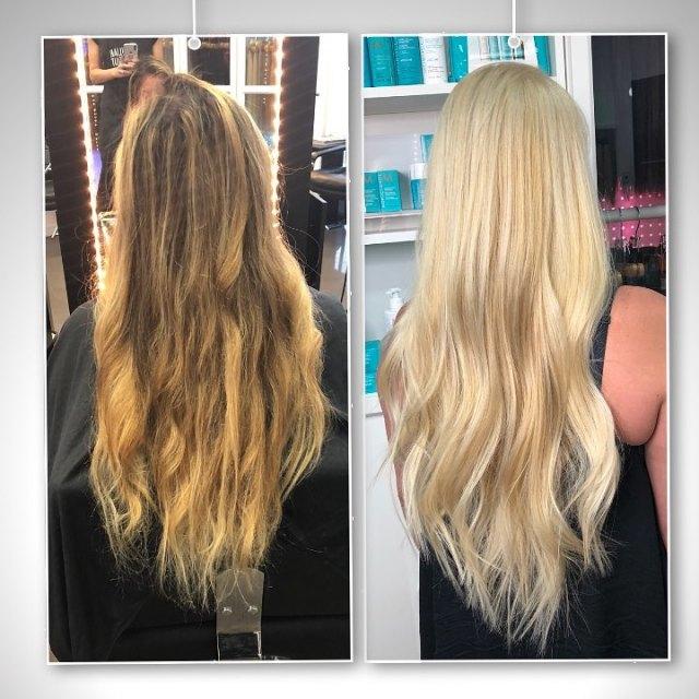 solid bleach hair color