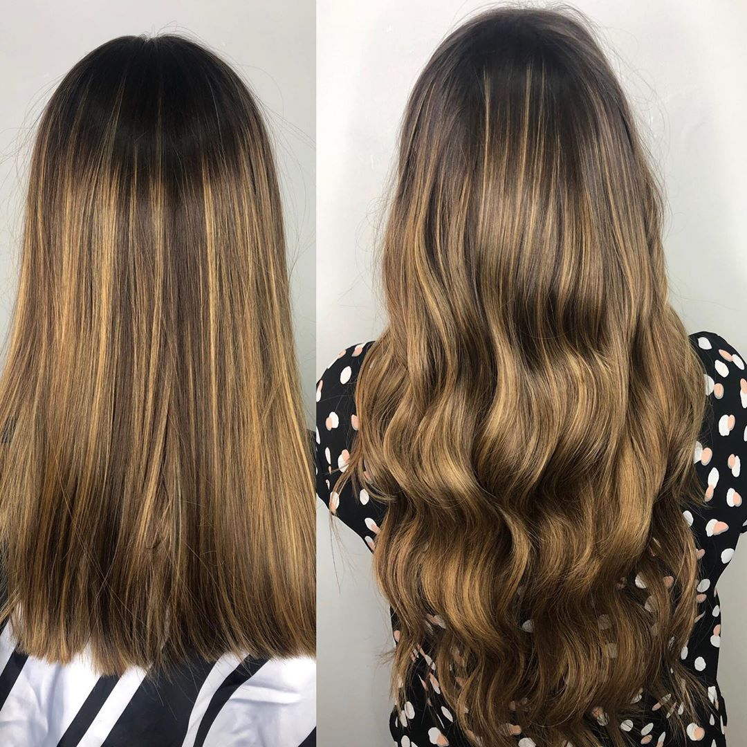 Balayage Tape In Hair Extensions Las Vegas After 05