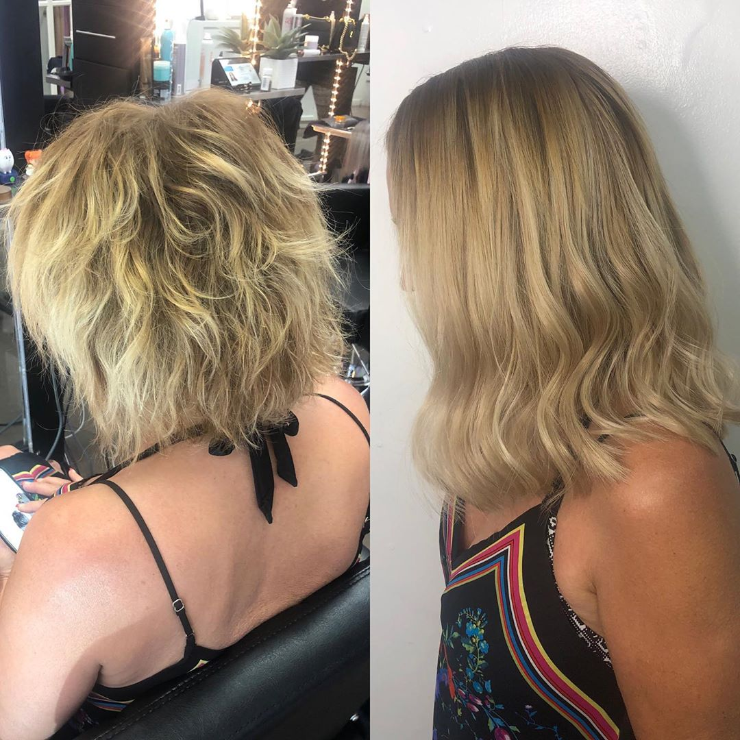 Beaded Weft Hair Extensions Las Vegas Before After 01