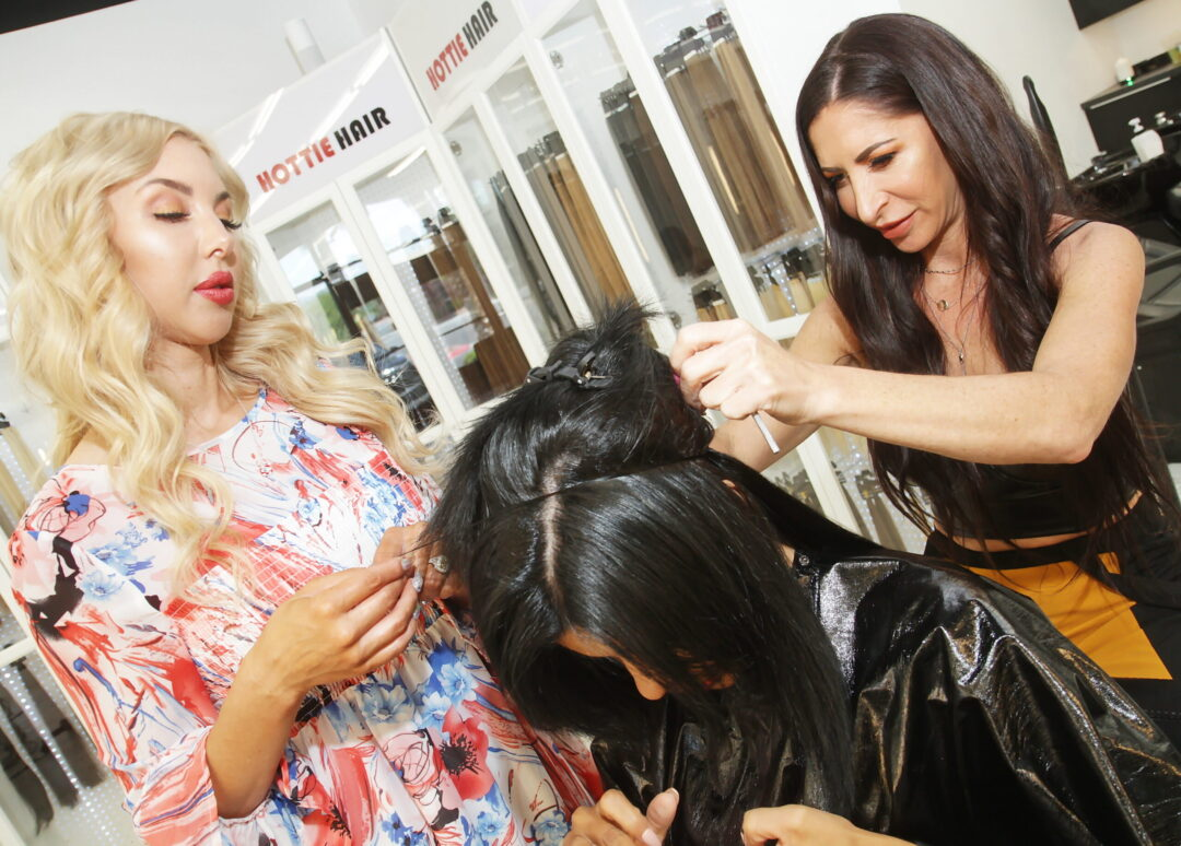Larissa Santos Lima Gets Long & Dark Hair Extensions Installed in Las Vegas