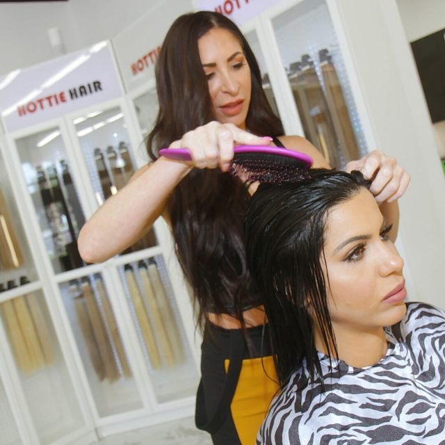 Performing a Brazilian Blowout in Las Vegas at Hottie hair