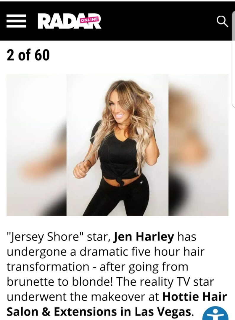 Jersey Shore's Jen Harley Debuts Hot New Blonde Extensions