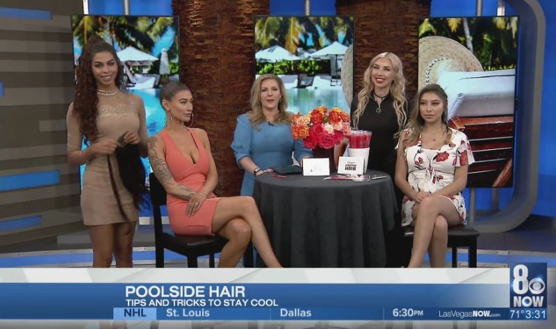 Poolside hair with Hottie Hair Salon