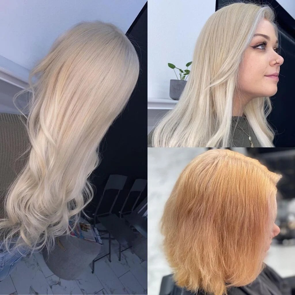 women with fusion hair extensions