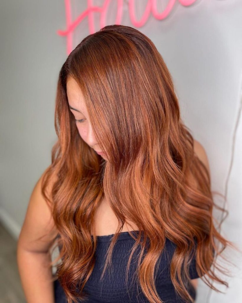 Ginger Russian Hair Extensions Installed On Women 1