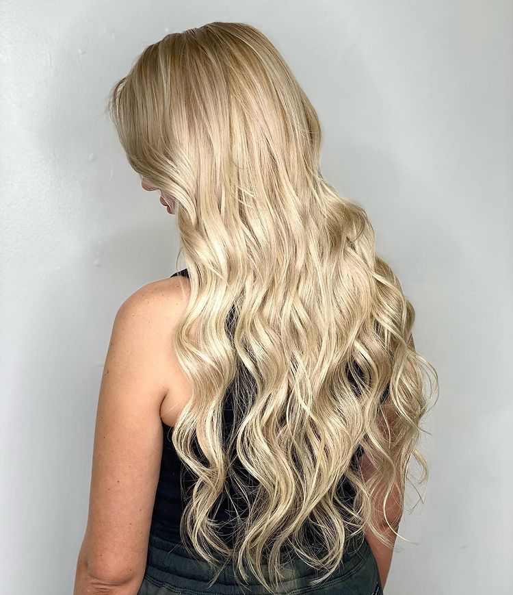 Hand Tied Extensions Long Blonde