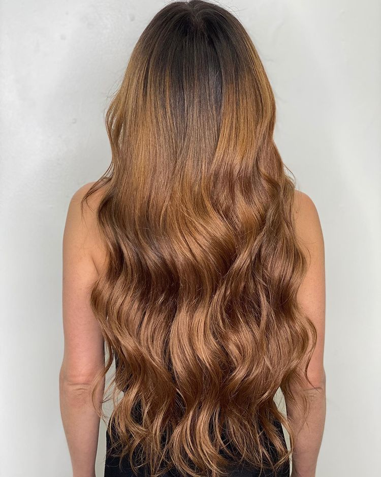 Hand Tied Extensions Long Thick Light Brown 1