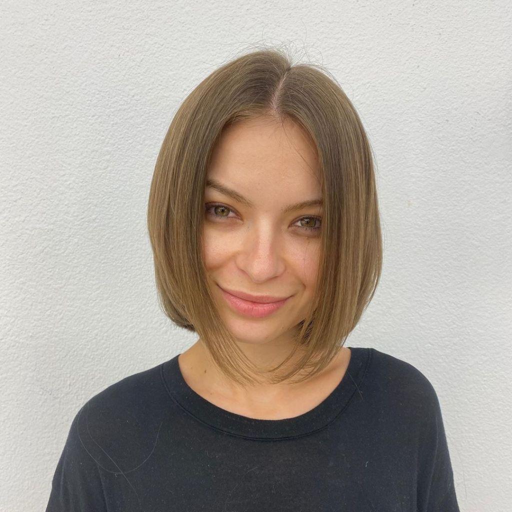 womens short hair a frame haircut